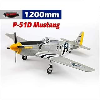 DYNAM RC Airplane P-51 Mustang V2 Silver 1200mm Wingspan - PNP