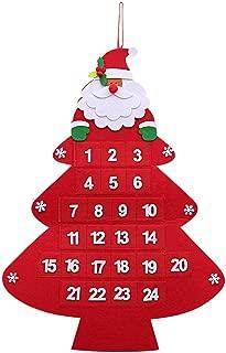 Año Nuevo Calendario de Adviento, Calendario de Adviento Árbol de Navidad Diseño de Navidad Colgando 24 días de Papá Noel Hogar u Oficina