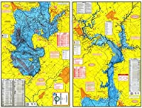 Topographical Fishing Map of Lake Livingston - with GPS Hotspots
