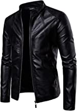 Fall Collar Male Locomotive Leather Pure Color Washed PU Leather Jacket