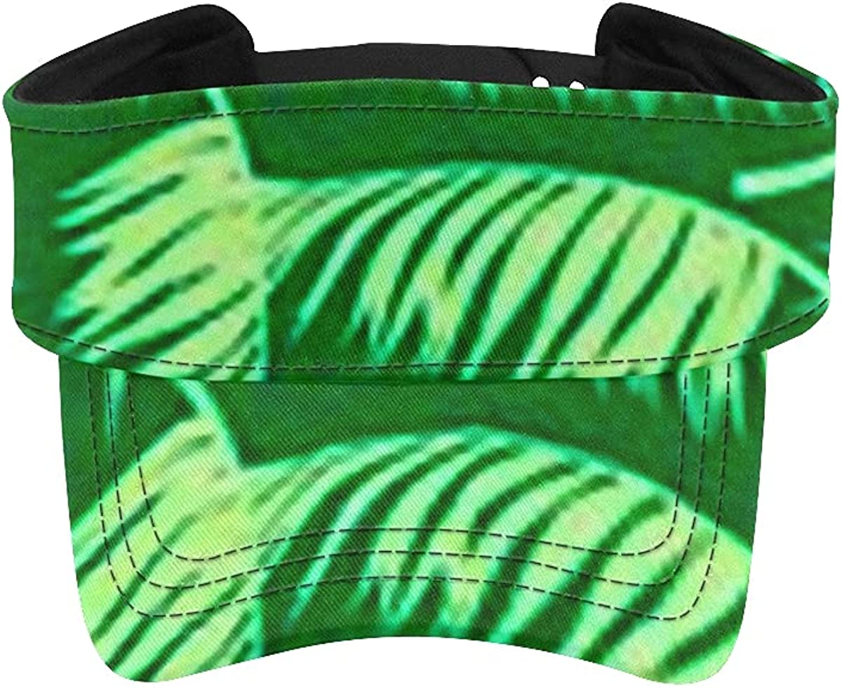 Super beauty product restock quality top! outlet Sun Visor Hat Beach Seamless Mens Tropical Tree Palm Pattern