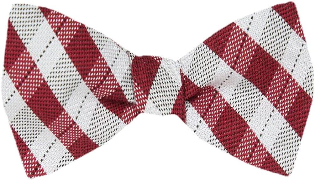 FBTZ-1024 - Men's Silk Self Tie Bowtie Tie Yourself Bow Ties