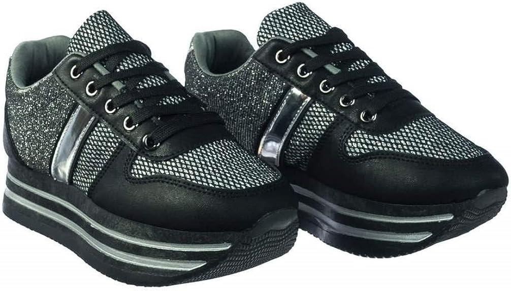 ShoBeautiful Women's Breathable Mesh Casual Walking Shoes Thick Platform Fashion Sneakers SG02