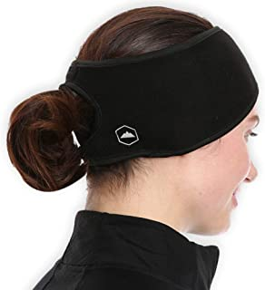 Womens Ponytail Headband - Fleece Ear Warmers Head Band - Perfect for Running, Outdoor Sports & Daily Wear - Stay Warm & Cozy with our Thermal Polar Fleece & Performance Stretch