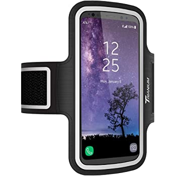 Trianium Armband, Water Resistant Large Cell Phone Armband for iPhone 12 Pro,12 Mini,11 Pro Max/Xs Max/XR/X/8 Plus, Galaxy S20/S10/S10e/S10+/Note 10 and More Workout Band Skin & Key Holder(2nd Gen)