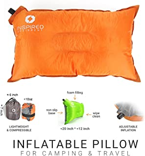Inspired Equipment Camping Pillow Compressible & Portable | Best Camping Gear for Adults & Kids |