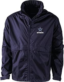 NFL Dallas Cowboys Men's Sportsman Waterproof Windbreaker Jacket, Navy, X-Large