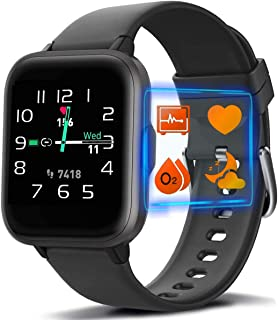 MorePro 18 Sports Mode Smart Watch with Music Control, DIY Screen Fitness Tracker with Blood Oxygen Heart Rate Monitor, Sl...