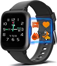 MorePro 18 Sports Mode Smart Watch with Music Control, DIY Screen Fitness Tracker with Blood Oxygen H-R Monitor, Sleep Tra...