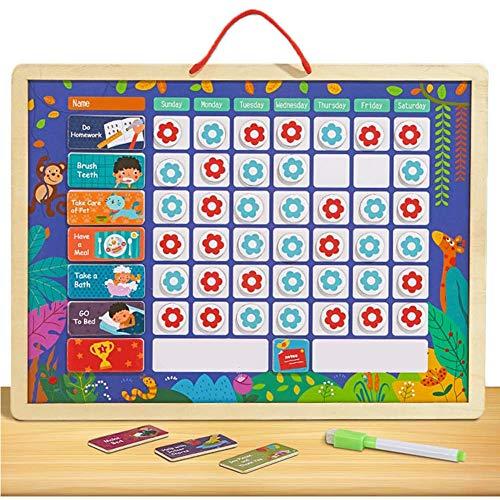 HBIAO Belohnungstabelle Kids Chore Chart, Kids Magnetic Reward Chart Set Gutes Verhalten Chore Board zum Erlernen von Regeln, für Kleinkinder Kinder