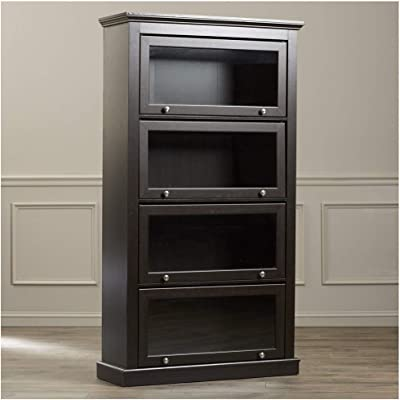 sports shoes aca49 e8553 Amazon.com: Wood and Metal Bookcase with 4 Glass Doors ...