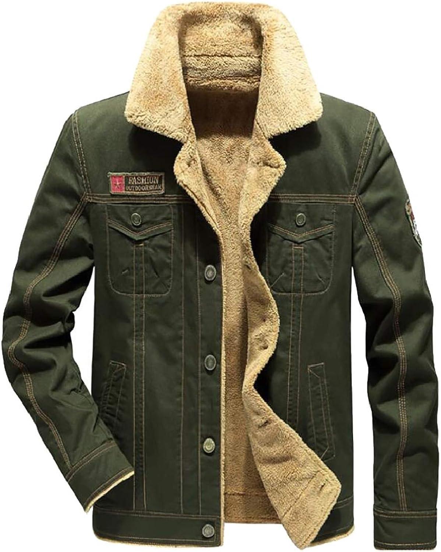 f427e41bc TD-CACA Men's Winter Thicken Plus Velvet Cotton Denim Denim Denim ...