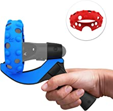 AMVR Table Tennis Paddle Grip Handle, Left & Right Handle Silicone Protective Cover Rings for Oculus Quest or Rift S Touch Controllers Playing Eleven Table Tennis VR Game