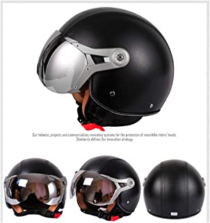 SWEI Dot Youth Motorcycle Helmet,3/4 Helmets Motorcycle High-Strength Impact Resistance for Adult Teenagers