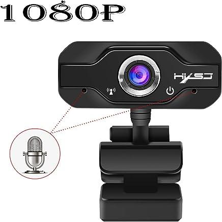 SSCJ Webcam HD 1080P, Webcam USB e Laptop Webcam Plug And Play Videocamera per Computer Video con Microfono Incorporato per PC, Clip Girevole Flessibile a 180 ° - Trova i prezzi più bassi
