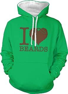 Men's I Love Beards Two Tone Hoodie