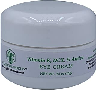 YOUTHFUL.WORLD Eye Cream with Vitamin K, DCX, Arnica, to remove puffiness