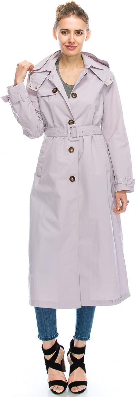 JEZEEL Women's Single Breasted Waterproof Long Trench Coat. (DCO572)