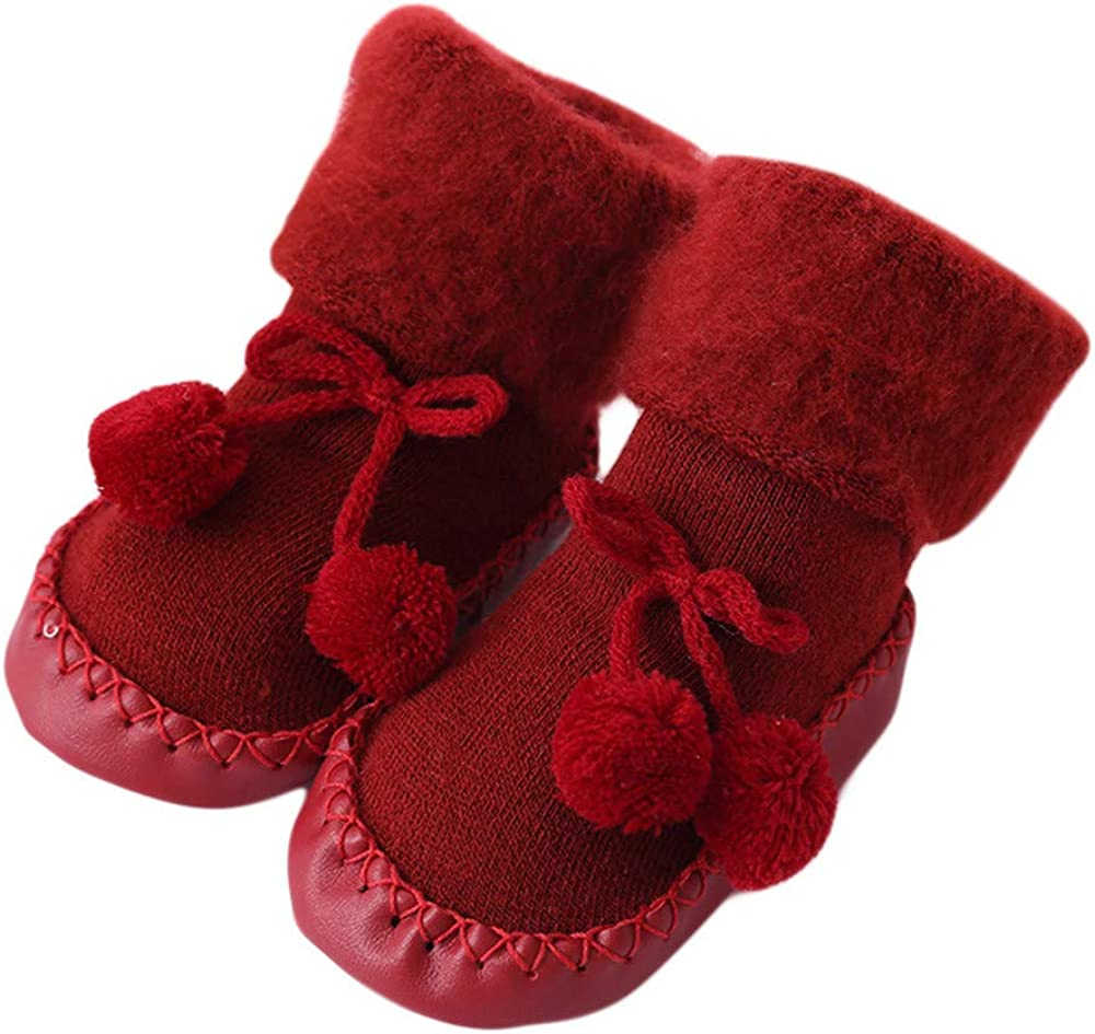 VEKDONE Baby Boy Girls shipfree Same day shipping Cable Knit Gr Slipper Non-Skid Socks with