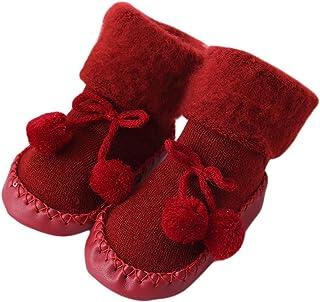 Calcetines Antideslizante Bebe Invierno K-youth Calcetines para Bebé Niñas Niños 0-24 Meses Espesar Zapatos Calcetines Bebé Recién Nacido Unisexo Infantil Niña