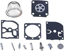 Hipa RB-100 Carburetor Rebuild Kit with Primer Bulb for STIHL HS45 FS55 FS38 BG45 MM55 & Mini Tiller 4137 EMU Trimmer