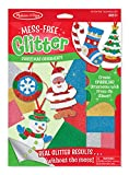 Melissa & Doug Mess-Free Glitter Christmas Ornaments (6 Ornaments, 7 Glitter Sheets, Great Gift for Girls and Boys - Best for 5, 6, 7, 8, 9 Year Olds and Up)