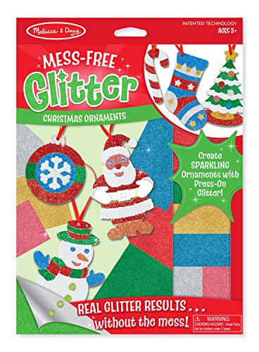Melissa amp Doug MessFree Glitter Christmas Ornaments 6 Ornaments 7 Glitter Sheets Great Gift for Girls and Boys  Best for 5 6 7 8 9 Year Olds and Up