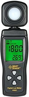 Mairuay SMART SENSOR AS813 Digital Lux Light Meter 1-200000 Lux Lumenmeter High Precision Lux/FC Tester