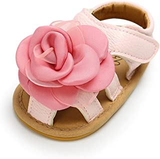 5eb3333cf42e5 RVROVIC Baby Girl Sandals - Soft Sole Infant Girl Summer Crib Shoes  Princess Dress Flats