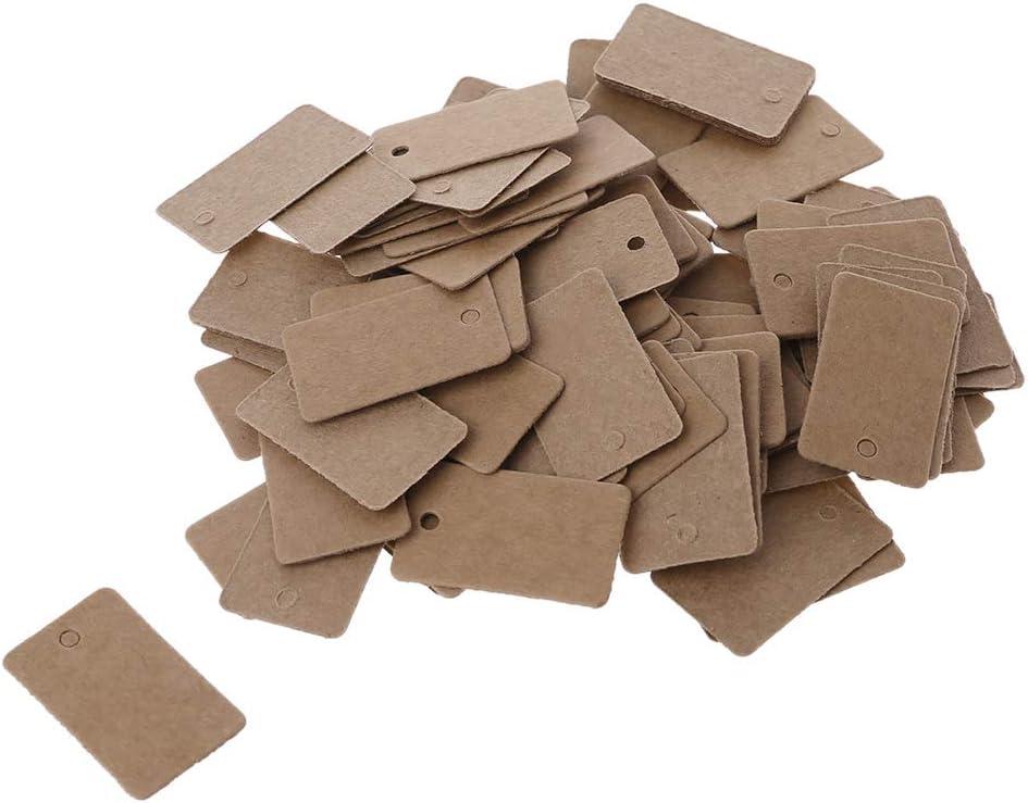 ZIRAN 100 pi/èces Cartes-Cadeaux en Papier Kraft /étiquettes Volantes /étiquettes de Bijoux /étiquette Artisanat d/écor 2X3.3Cm Carte /étiquette en Peau de Vache