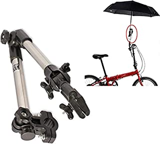 Stainless Steel Wheelchair Bicycle Pram Swivel Umbrella Connector Stroller Holder Any Angle Umbrella Stands Practical Tools