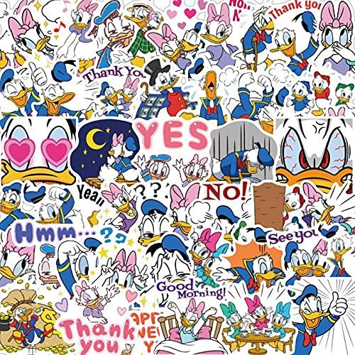 Later Disney Donald Duck Anime Cartoon Mobile Shell Pegatinas decorativas para carro de viento, 80 unidades