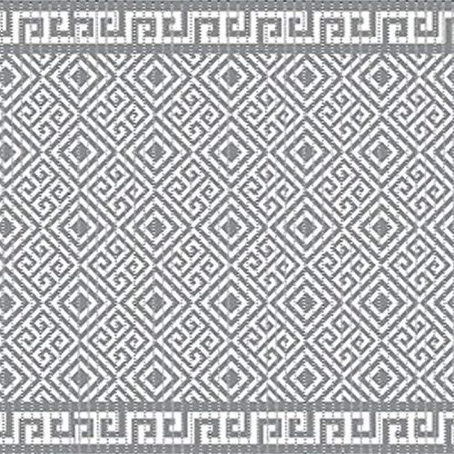 Weichschaummatte Badvorleger Bodenbelag Weichschaumbelag Antirutschmatte Badezimmermatte Sicherheit Meterware Grau Weiß Geometrisch Breite 65 cm Aqua Mat 4017-6 (65 x 160 cm)