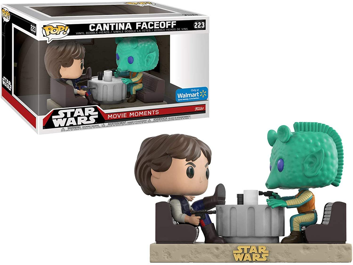 Star Wars  Han Solo and Greedo Cantina FaceOff Movie Moments Pop Vinyl Figure 2Pack