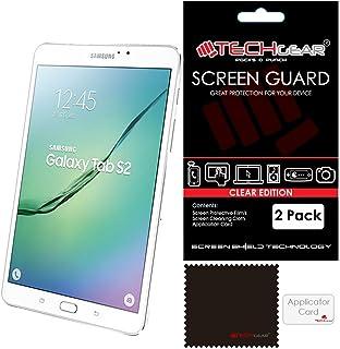 TECHGEAR [2-pack] skärmskydd för Samsung Galaxy Tab S2 8,0 tum (SM-T710/SM-T715) - Ultra Clear Lcd skärmskydd skydd skydd ...