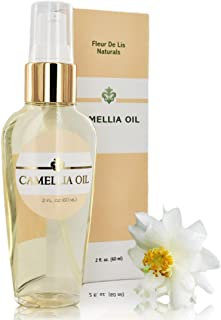 Camellia Oil 100% - Pure Cold Pressed, Organic 2oz / 60 ml. Anti Aging, Dry Skin, Acne Scars, Stretch Marks, Hair – Unscented
