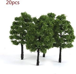 16 Pcs Plastic Model Trees Two Size Miniature DIY Landscape Scenery Train Railways Pine Trees Garden Decoration by SamGreatWorld