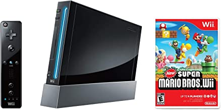 $134 » Nintendo Wii Console, Black with New Super Mario Bros Wii (Renewed)