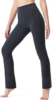 NAVISKIN Women's Fold Over Yoga Lounge Pants Active Workout Stretch Outdoor Pants Back Pocket