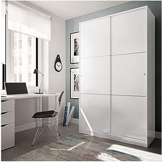 HABITMOBEL Ward. Armario 2 Puertas correderas Anchas, Colgador Interior + estantes