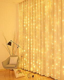Litogo Rideau Lumineux, 3M*3M Rideau Guirlande Lumineuse 300 LED USB Rideau Lumière Interieur 8 Modes Télécommande minuter...
