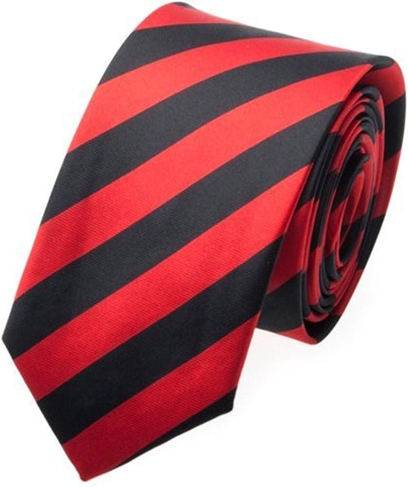 TopTie Unisex Black & Red College Stripe Skinny 2