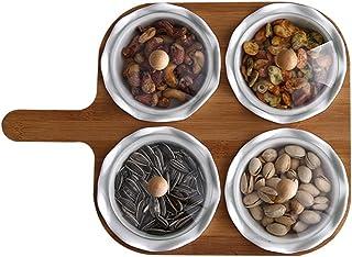 طبق التقديم المقسم طبق التقديم طبق الغمس صينية التقديم وعاء البندق صحن تقديم الفواكه الجافة صواني التقديم