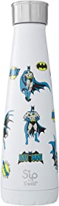 S'ip by S'well Stainless Steel Water Bottle - 15 Fl Oz - Gotham City - Double-Layered Vacuum-Insulated Keeps Food and Drinks Cold and Hot - with No Condensation - BPA Free Water Bottle