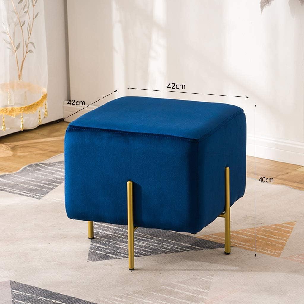 Tabourets Pouf Repose-pieds Pouf Pouf Chaise Ronde Chaise Pouf Luxe Housse Velours (Color : Blue) Green