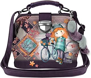 Forever Ninette Ninette Bicycle-Doctor Schultertasche Borsa Messenger, 20 cm, Multicolore (Multicolour)