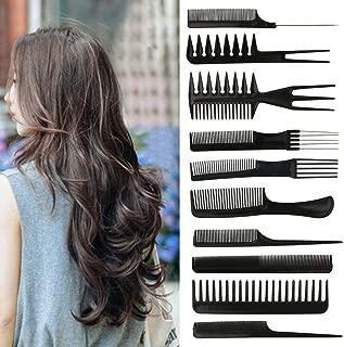 10pcs/Set Barber Hairbrush Salon Anti-static Professional Hair Comb