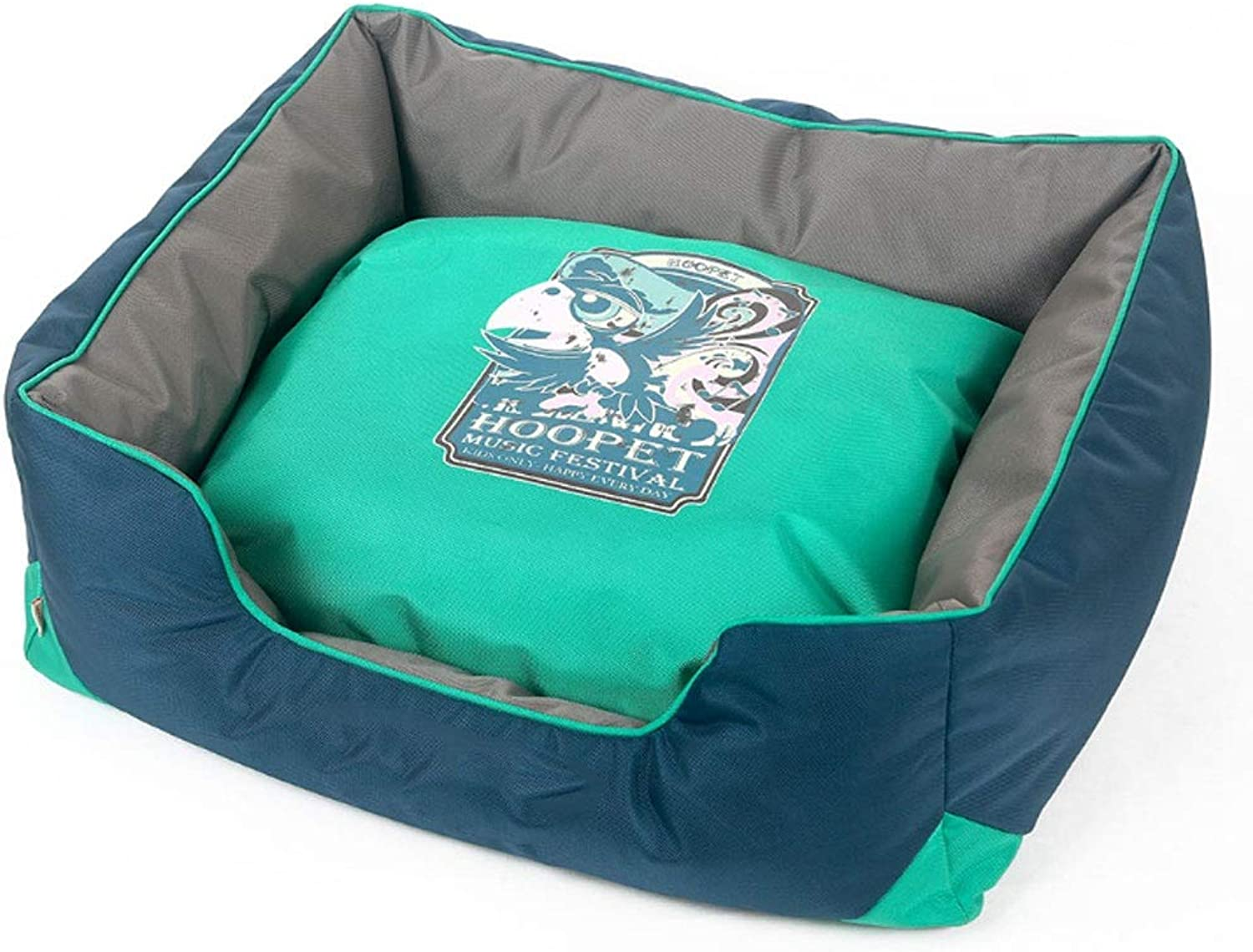 PETS 33 Kennel removable washable pet mat washable puppy bed Seasons Universal Washable Nonslip Foldable Soft (color   bluee, Size   S)