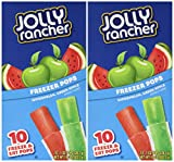 Jolly Rancher Freezer Pops 10 Ct Package (Pack of 2)