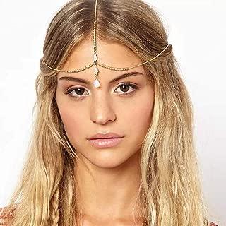 Fdesigner Boho Opal Head Chain Jewelry Gold WeddingHair Accessories Headpieces Princess Egyptian Headdress Bride Headpieces for Women